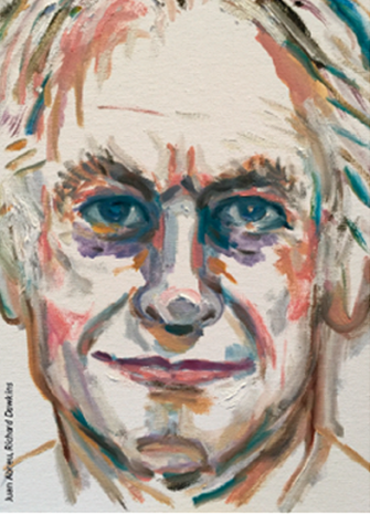 Juan Abreu, Retrato de Richard Dawkins
